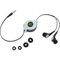 Emerge Technologies Retractable Noise Isolating Stereo In-Ear Earbuds ETAUDIOIEB