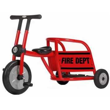 Foundations Worldwide Italtrike Pilot 300 Series Red Fire Truck Tricycle