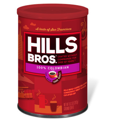 Hills Bros 100% Colombian Dark Roast Coffee