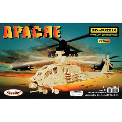 Puzzled 1202 Apache 3D Natural Wood Puzzle - 80 Pieces