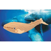 Puzzled 1262 Blue Whale 3D Natural Wood Puzzle - 23 Pieces