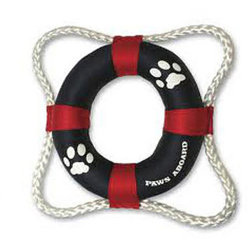 Paws Aboard 2400 Life Ring Dog Toy - Red/Blue