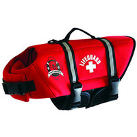 Snow Joe Paws Aboard Red Neoprene Doggy Life Jacket Green medium
