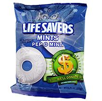 Lifesavers Pep-O-Mint Candy - 6.25 oz. Bag - 12 ct.