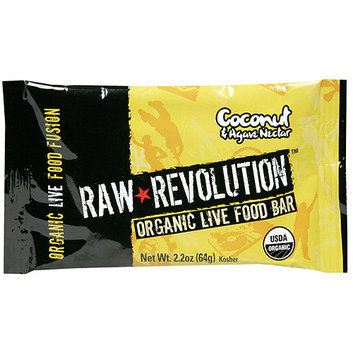 Raw Revolution Organic Live Coconut & Agave Nectar Food Bars