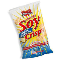 Glenny's Low Fat Soy Crisps, White Cheddar, 3-Ounce Bags (Pack of 12)