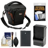 Vidpro TL-25 Top-Load DSLR Camera Holster Case (Small) with EN-EL14 Battery & Charger + Accessory Kit for Nikon D3100, D3200, D5100, D5200