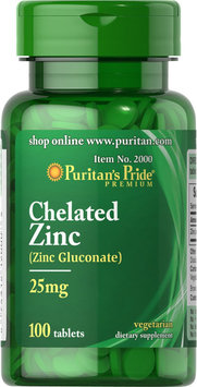 Puritan's Pride 2 Units of Zinc Chelate 25 mg-100-Tablets