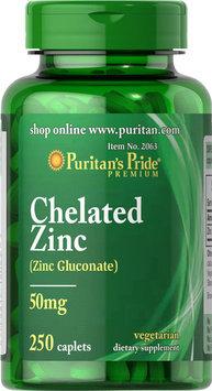 Puritan's Pride 2 Units of Zinc Chelate 50 mg-250-Caplets