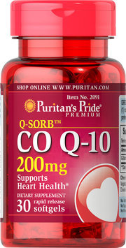 Puritan's Pride 2 Units of Co Q-10 200 mg-30-Softgels