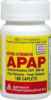 Acetaminophen Pain Reliever Acetaminophen Caplets Non Aspirin Extra Strength Pain Reliever 500mg