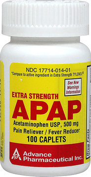 Acetaminophen Pain Reliever Acetaminophen Caplets Non Aspirin Extra Strength Pain Reliever 500mg