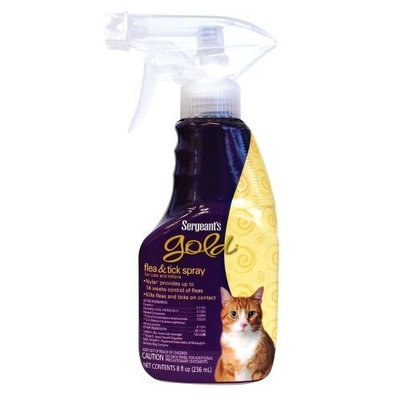 Sergeant's Pet Sergeant's 8-Ounce Gold Flea and Tick Spray Cat