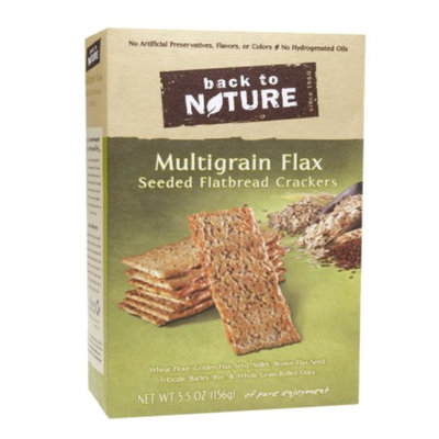 Back to Nature Multigrain Flax Seed Crackers, 5.5 oz