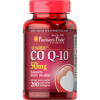 Puritan's Pride 2 Units of Co Q-10 50 mg-200-Softgels