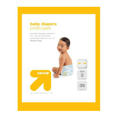 up & up Baby Diapers Jumbo Pack - Size 3 (36 Count)
