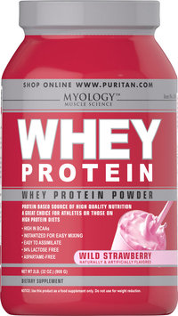 Myology Whey Protein Powder Wild Strawberry-2 lbs-Wild Strawberry-Powder