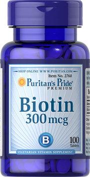 Puritan's Pride Biotin 300 mcg-100 Tablets