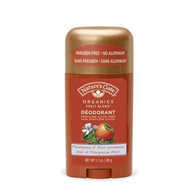 NATURE'S GATE, Fruit Blends Deodorant Stick Persimmon+Rose Geranium - 1.7 oz