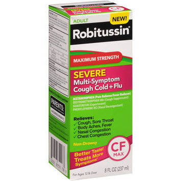 Robitussin Peak Cold 8 oz. Maximum Strength Multi-Symptom Cold Relief Liquid