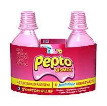 Pepto-bismol Pepto Bismol - 2 12 Oz Bottles Plus 30 Instacool Chewable Tablets