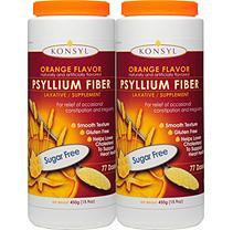 Konsyl Psyllium Fiber, Sugar Free, Orange (450 grams - 2 pk.)