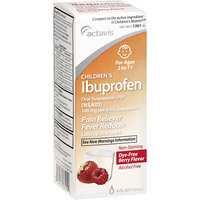 Actavis Children's Ibuprofen Dye-Free Berry Flavor Oral Suspension Pain Reliever/Fever Reducer, 4 oz