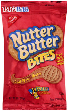 Nabisco Nutter Butter Sandwich Cookies - Real Peanut Butter Bites