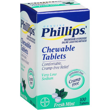 Phillips' Laxative Chewable Tablets Fresh Mint 100 Tablets