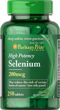 Puritan's Pride Selenium 200 mcg-250 Tablets