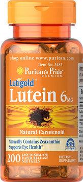 Puritan's Pride Lutein 6 mg with Zeaxanthin-200 Softgels