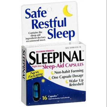 Sleepinal Maximum Strength Night Time Sleep Aid Capsules By Blairex