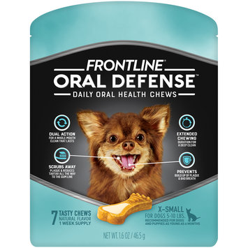 FRONTLINE Oral Defense Chews for Extra Small Dog (5-10 lbs)