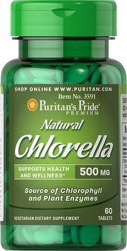 Puritan's Pride 2 Units of Natural Chinese Chlorella 500 mg