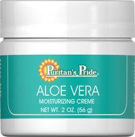 Puritan's Pride 2 Units of Aloe Vera Natural Moisturizing Creme-2 oz-Cream