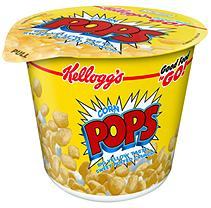 Corn Pops Cereal in a cup - 12 count case - 2 oz. Cup - Cold Cereal