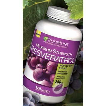 TruNature Resveratrol Maximum Strength with red Wine Extract-250mg -120 Softgels