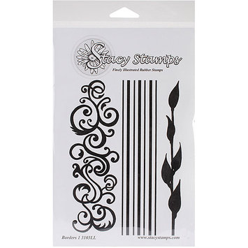 Stacystamps 3103LL Stacy Stamps Cling Mounted Stamps 4.25 in. X6 in. -Borders I