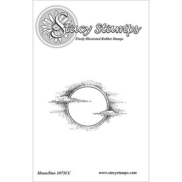 Stacystamps 1073CC Stacy Stamps Cling Mounted Stamps 2.5 in. X1.5 in. -Moon Sun