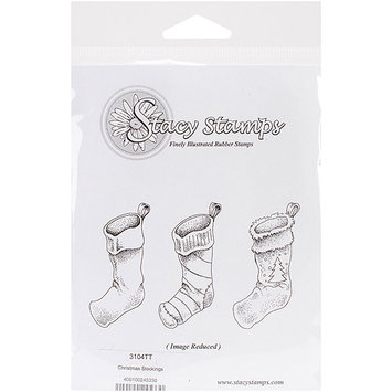 Stacystamps 3104TT Stacy Stamps Cling Mounted Stamps 3.25 in. X1 in. -Christmas Stockings