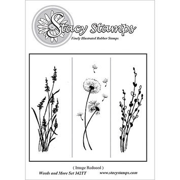 Stacystamps 342TT Stacy Stamps Cling Mounted Stamps 3 in. X3.25 in. -Weeds & More