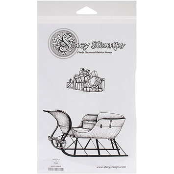 Stacystamps 3100AA Stacy Stamps Cling Mounted Stamps 4.75 in. X3.75 in. -Sleigh Bells