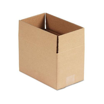 Universal Office Products 166171 Corrugated Kraft Fixed-depth Shipping Carton 6w X 10l X 6h Brown 25/bundle