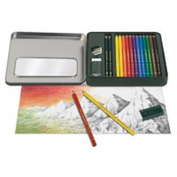 Faber-Castell FC110040 POLYCHROMOS 16-Piece Mixed Media Kit