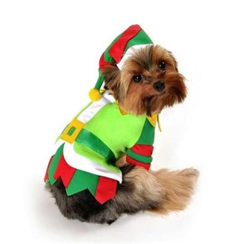Anit Accessories Santa's Lil' Helper Dog Costume Size: Medium (12-16