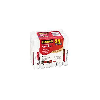 3M 600824S Permanent Glue Stick .28 oz 24 Pack