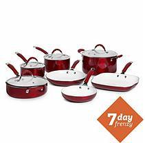 Bella 11-pc. Red Ceramic Cookware Set