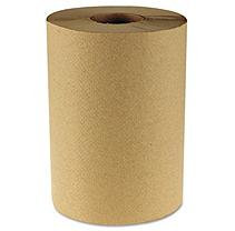 Boardwalk - Economy Hardwound Paper Towels, 1-Ply, 350 ft, Brown - 12