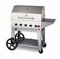Crown Verity Outdoor Charbroiler with Accessories, 5 Burners, LP Gas MCB-36PKG-LP