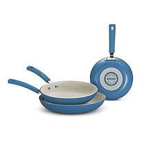 Tramontina 3Pack Fry Pans Blue